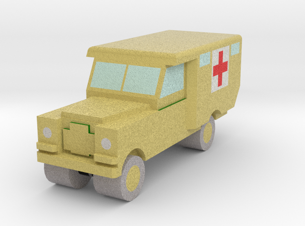 1/285 Land Rover S2 Ambulance x1 - Army, Sand in Full Color Sandstone
