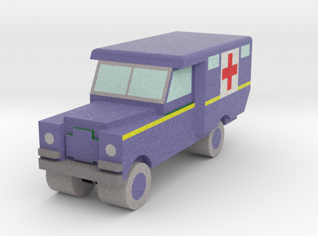 1/285 Land Rover S2 Ambulance x1 - RAF, Blue in Full Color Sandstone