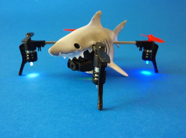 Shark case for Micro Drone 3 in White Natural Versatile Plastic