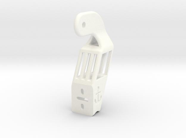 Beckson Port Hinge Bracket in White Strong & Flexible Polished