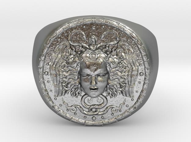 Médusa in Natural Silver