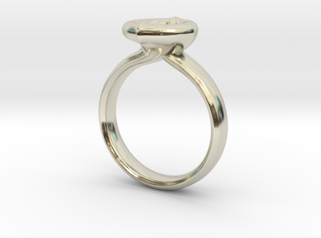 Ring Klein-Etienne maschile in 14k White Gold