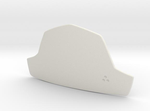 Boba Fett Abdominal Plate in White Natural Versatile Plastic