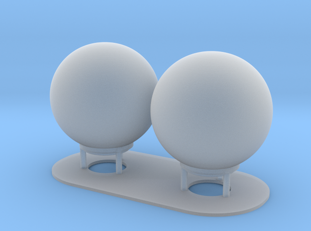 1:96 scale SatCom Dome Set 8 in Smooth Fine Detail Plastic