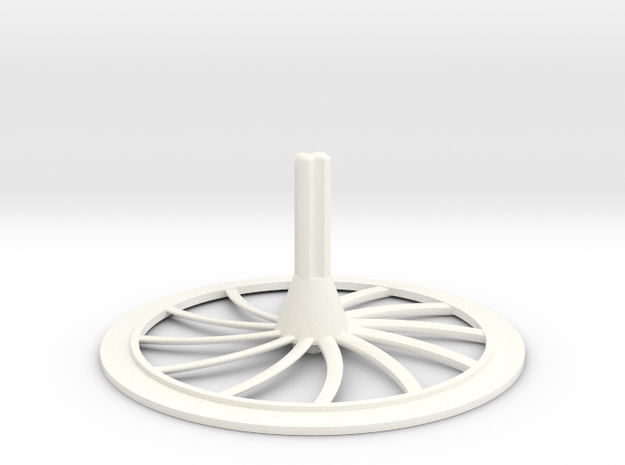 Turbine Hubcap--RH in White Strong & Flexible Polished