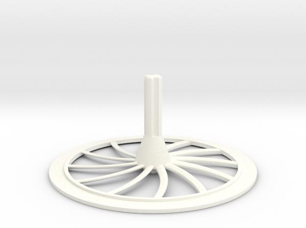 Turbine Hubcap--RH in White Processed Versatile Plastic