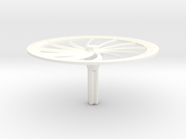 Turbine Hubcap--LH in White Processed Versatile Plastic