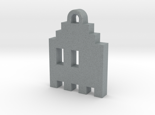 Pac Man Ghost 8-bit Earring 1 (looks L/R | moving) 3d printed