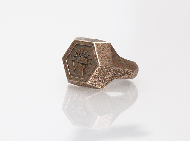 Magic: The Gathering    Boros Ring(US Size 08) 3d printed Stainless Steel