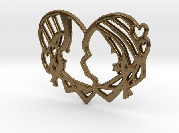 'Just Kiss me' in Raw Bronze