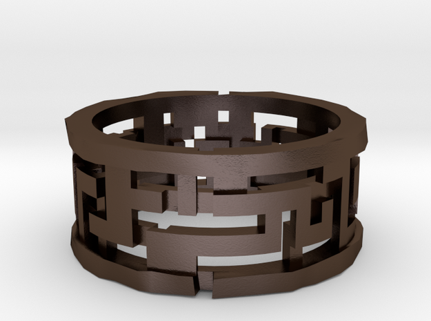 Labyrinth ring: size 8 (US) Q (UK) 3d printed