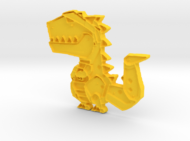 t rex in Yellow Strong & Flexible Polished