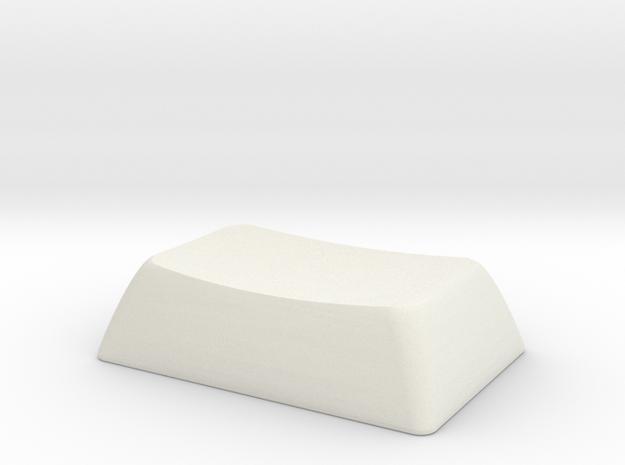 1.5S ALPS/Matias compatible DSA keycap in White Natural Versatile Plastic