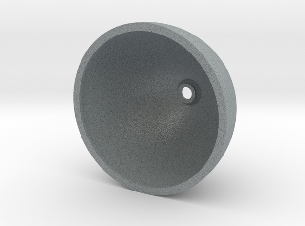 Spinner 90mm in Polished Metallic Plastic
