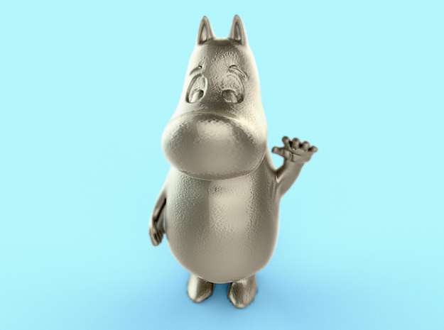 MoominTroll Waveing 50mm 3d printed