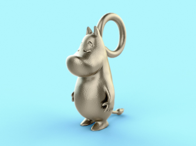 MoominTroll Sleepy Charm15mm in White Strong & Flexible