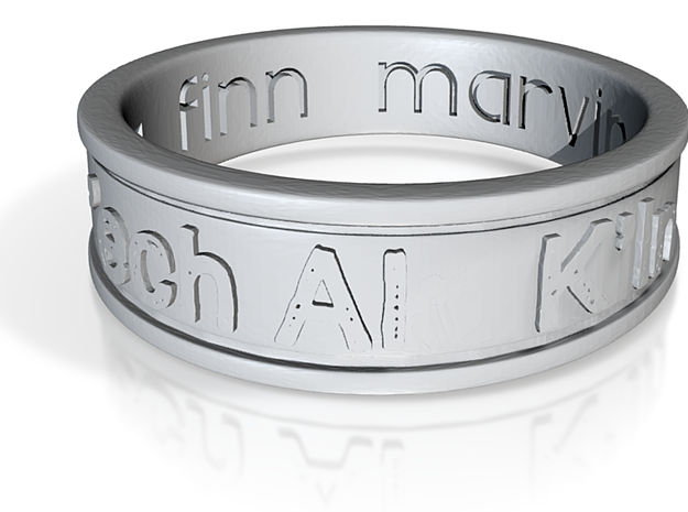 Ring.TighNaMara.16.995mm(16.5mmAfter3%shrink)-mesh 3d printed