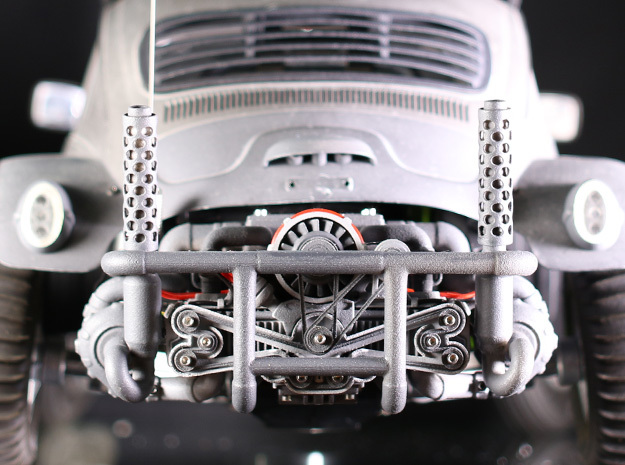 Sand Scorcher Flat Six Air-cooled Engine Block in White Processed Versatile Plastic