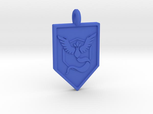 Team Mystic Badge Keychain in Blue Processed Versatile Plastic