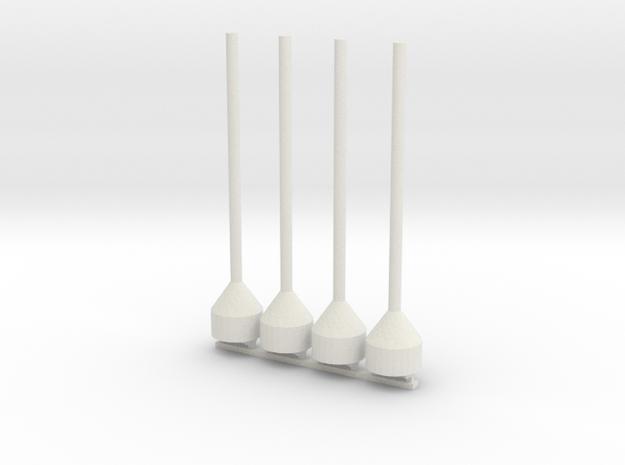 48th Scale Dan Buoy Pair in White Natural Versatile Plastic