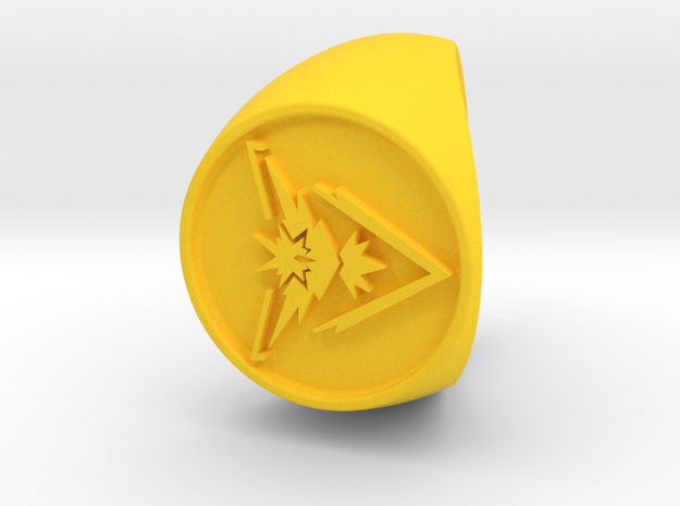 Team Instinct Signet US 10 in Yellow Strong & Flexible Polished