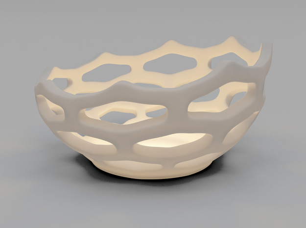 Coral style tea light bowl Ø14cm 3d printed 3D Render