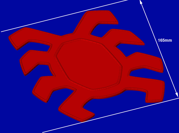 Spider-Man Homecoming Back Spider-165mm in Red Strong & Flexible Polished