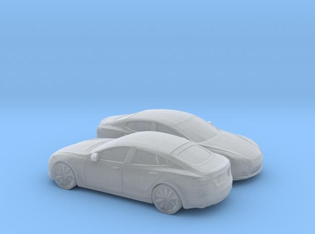 1/160 2X 2012-16 Tesla Model S in Smooth Fine Detail Plastic