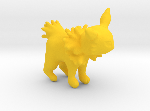 Jolteon in Yellow Processed Versatile Plastic