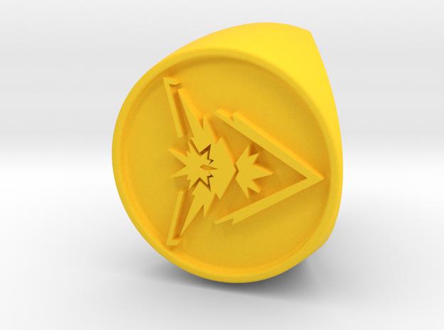Team Instinct Signet US 4.5 in Yellow Processed Versatile Plastic