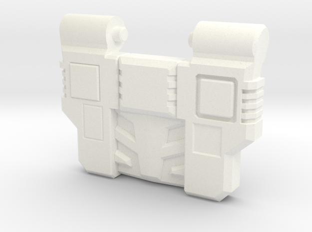 Reckless Driver's G1 Chest Plate v2 in White Processed Versatile Plastic