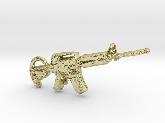 cool m4 carbine gun keyring in 18k Gold