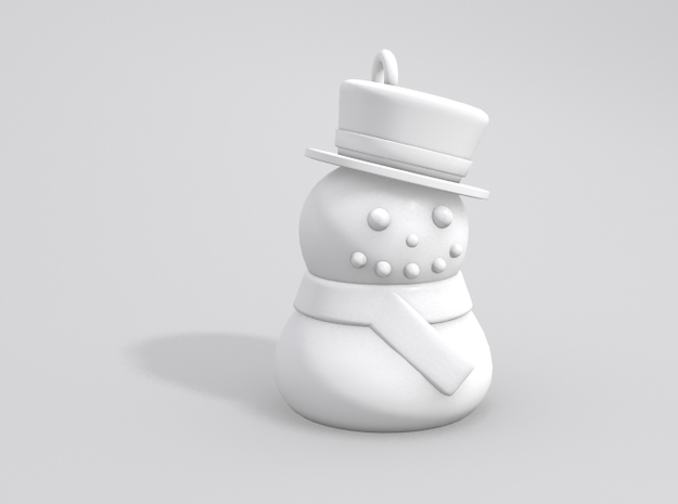 Snowman Earrings 3d printed Sample render