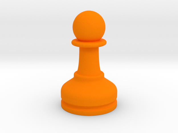 MILOSAURUS Chess MINI Staunton Pawn in Orange Processed Versatile Plastic