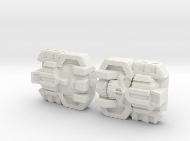 Monstructor Face 2-Pack (Titans Return) in White Natural Versatile Plastic