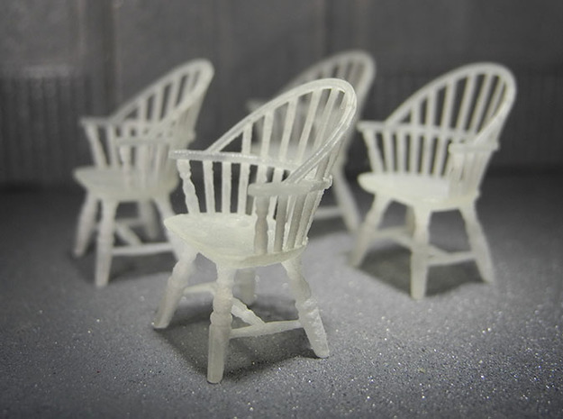1:48 Sack Back Windsor Chairs in Frosted Ultra Detail