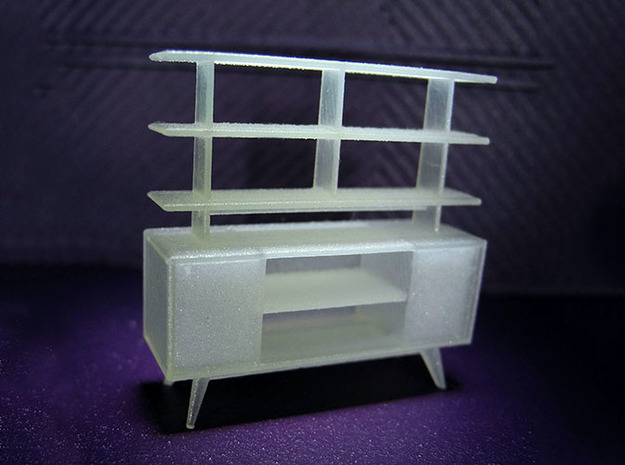 1:48 Moderne Room Divider in Smooth Fine Detail Plastic