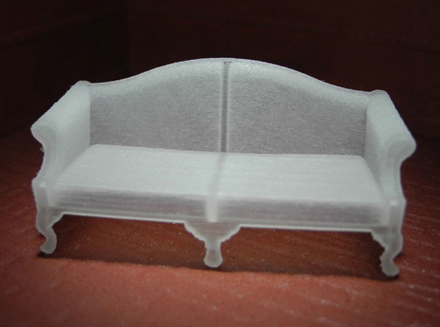 1:48 Queen Anne Sofa in Smooth Fine Detail Plastic