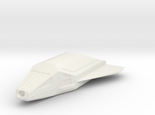 Omega-Class Shuttlecraft in White Natural Versatile Plastic