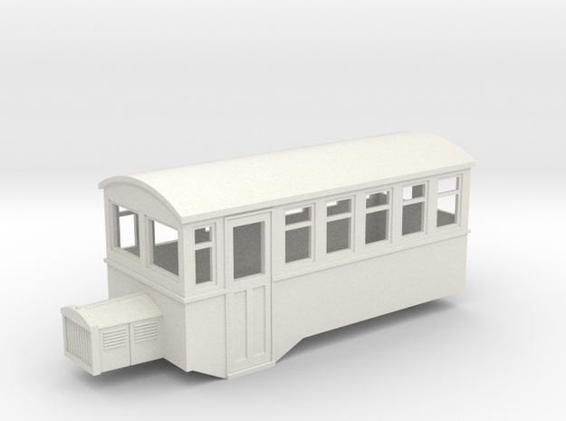 009 HOe Railbus 40 single ended  in White Strong & Flexible