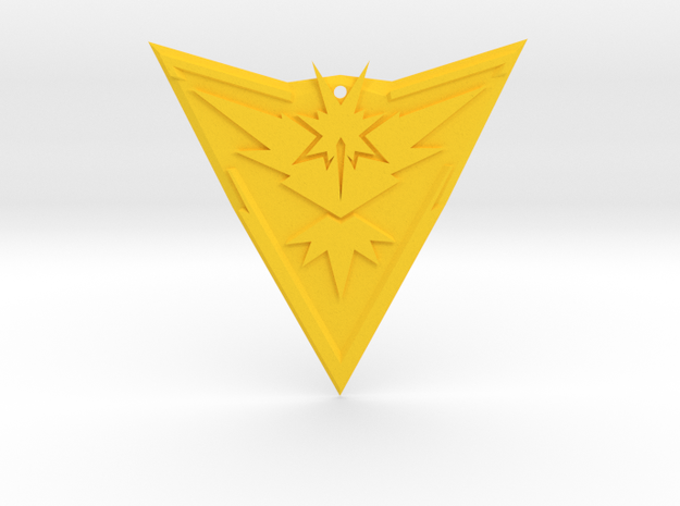 "Team Instinct Badge 4"" in Yellow Strong & Flexible Polished"