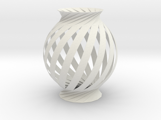 Lamp Ball Twist Spiral Inspired in Fold and Cut