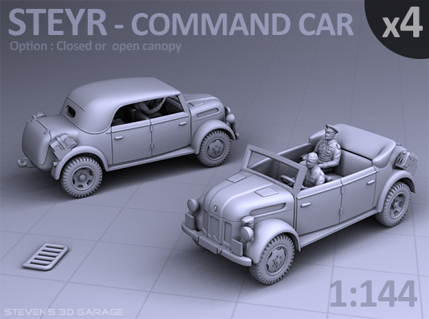 STEYR COMMAND CAR - (4 pack) in Frosted Ultra Detail