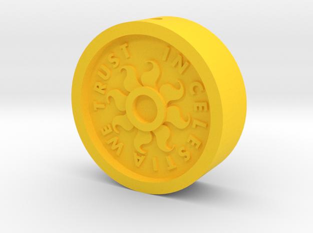 Brony Bit [Hollow] in Yellow Processed Versatile Plastic