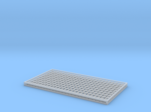 7mm Sleeper Plates C125 Rail X 500 in Frosted Ultra Detail