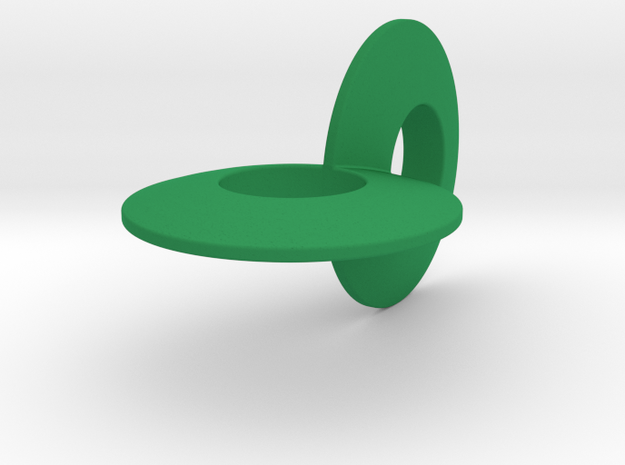 Two Circle Roller 4 in Green Strong & Flexible Polished