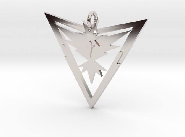 Pokémon Go Team Instinct Pendant in Rhodium Plated Brass