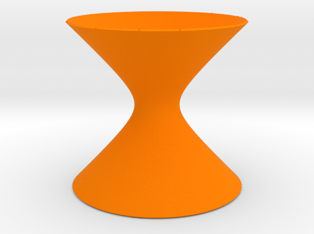 Hyperboloid of One Sheet in Orange Strong & Flexible Polished
