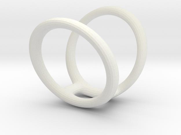 Ring Splint sizes 7/5 9/5 in White Natural Versatile Plastic