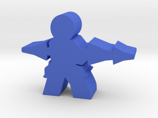 Game Piece, Militia Lancer Hector in Blue Processed Versatile Plastic